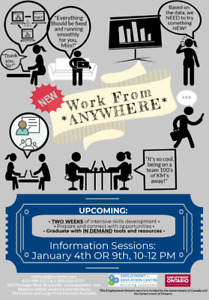 Working from Anywhere - Info sessions for exciting new program!