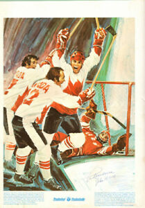 Autographed Poster Paul Henderson Wins Canada USSR Summit Series