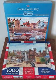 Jigsaws for sale 1000 piece each