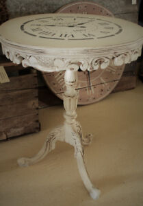 ANTIQUE DECOR TABLE, REFINISHED, SHABBY CHIC, FRENCH COUNTRY