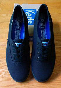 NEW Ked's classic black canvas shoes size 6.5