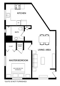 1 Bed/1 Bath Langford - Oct. 1
