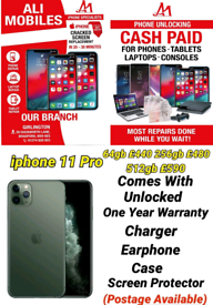 iphone 11 Pro Comes With Unlocked One Year Warranty Charger Earphone C
