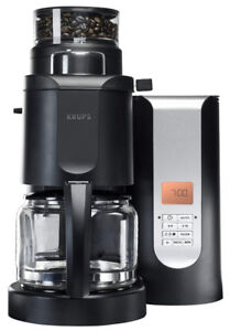 KRUPS KM7005 Grind & Brew Coffee Maker 10-Cup Black