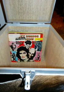 Dorm Decor Vintage Bovine Record Storage Trunk