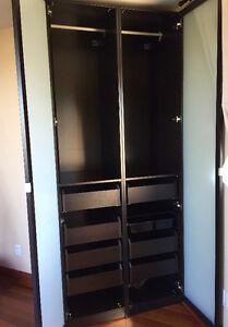 IKEA Pax Wardrobe Black-brown / Armoire penderie noir-brun