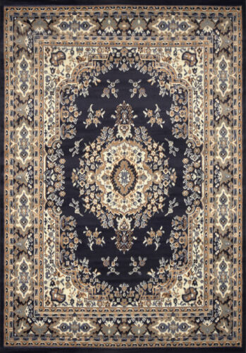 Persian Navy Blue Area Rug 2x3 Oriental Carpet 69 Actual