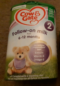 Free Cow and Gate follow on milk
