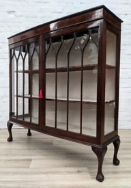Queen Anne Style Display Cabinet (DELIVERY AVAILABLE)