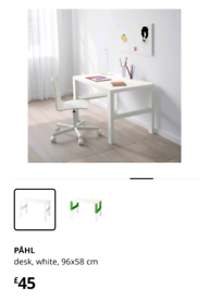 Ikea Pahl desk legs only