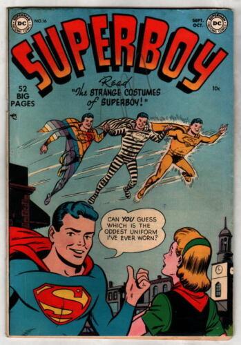 SUPERBOY 16 DC Comics 1951