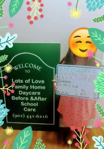 Private Home Daycare/Days/Evenings/Overnights & Saturday days