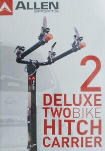 Deluxe 2 Bike Hitch Mounted Bike Rack NEW IN BOX