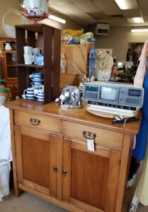 Antique Wood SIDEBOARD love as is or perfect for a makeover