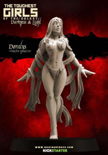 Raging Heroes Doralys Virgin Oracle Female Seer Priestess Mage 28mm