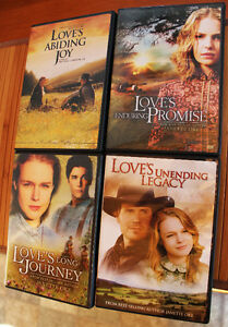 4 DVD'S from Love Comes Softly Series, Excellent Condition