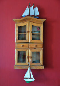 Pine Curiosity Cabinet (Wall mounted)