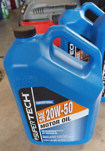 Motor Oil SAE 20x50 hard to find 5 quart container $25
