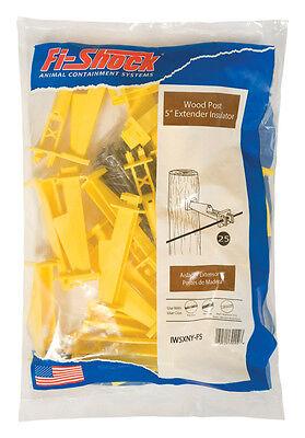 Fi-shock Electric Electric Fence Insulator 25 Pk Yellow Iw5xny-fs