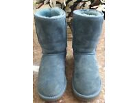 Genuine UGG Boots in light / powder blue size 5 with original box