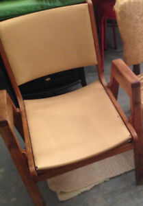 SIMPLE WOOD CHAIR WITH SOFT SEAT $25.00