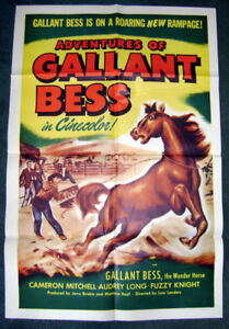1948 Adventures of Gallant Bess Horse Equestrian movie poster