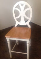 Over size wooden kitchen chairs