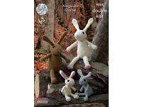 Amigurumi crochet rabbit family pattern