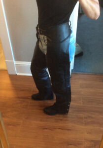 For sale, ladies black leather chaps for sale. $100
