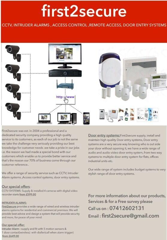 Cctv Camera Installation Burglar Alarm Door Entry Alarm