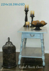 Gorgeous Solid Wood Side Table