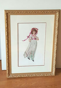 Vintage Petitpoint Needlepoint Picture -Gainsborough's PINK LADY