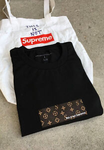 """This Is not Supreme """"black LV"""" tee Small"""