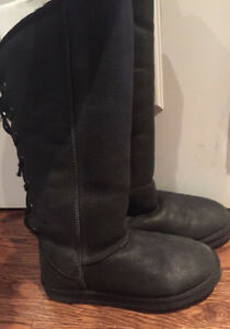 Pajar Sheepskin Boot Sz 7 Black I Ship