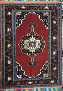 Afghan-Turkmen Handwoven Silk Rug