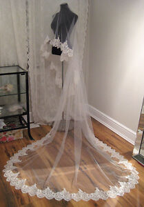 Brand new lace veil with sequins