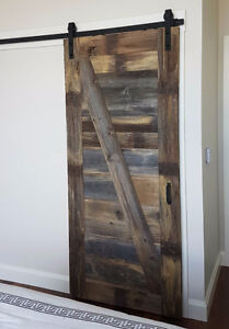 Modern or rustic soft close barn door hardware London Ontario image 2