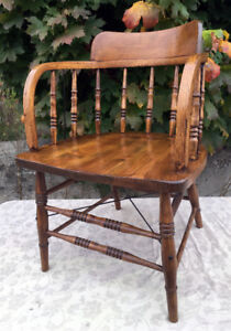 Original CNR Antique Caboose Chair SEE VIDEO