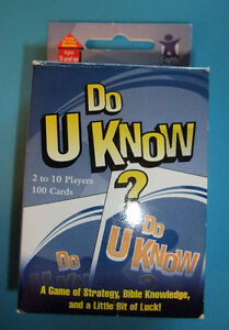 Do U Know? Bible Based Family Card Game