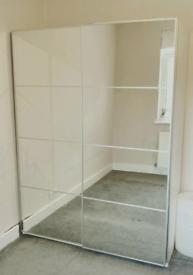 Ikea pax double mirror wardrobe