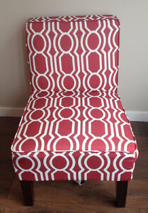 Red & White Living Room Chair