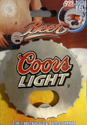 Coors Light BEER BOTTLE CAP DESIGN BELT BUCKLE AND BOTTLE OPENER NEW
