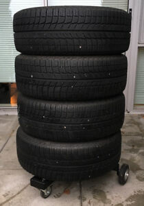Michelin X-Ice 205/55R16 Tires on steel rims 9/32 tread depth
