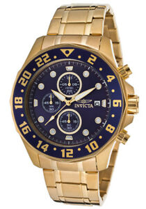 "INVICTA 15942 ""Specialty"" wristwatch/chronometer 18k gold plated"