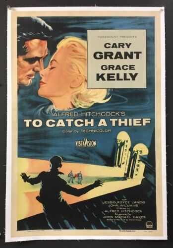 To Catch a Thief Original Movie Poster - Grant - Kelly 1955  *Hollywood Posters