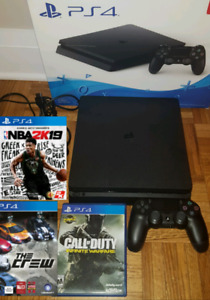 PS4 Slim 1TB bundle with 1 controller and 3 games