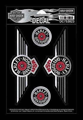 Harley Davidson Fat Boy Logo USA 5 pro Blatt Harley Fat Boy Aufkleber