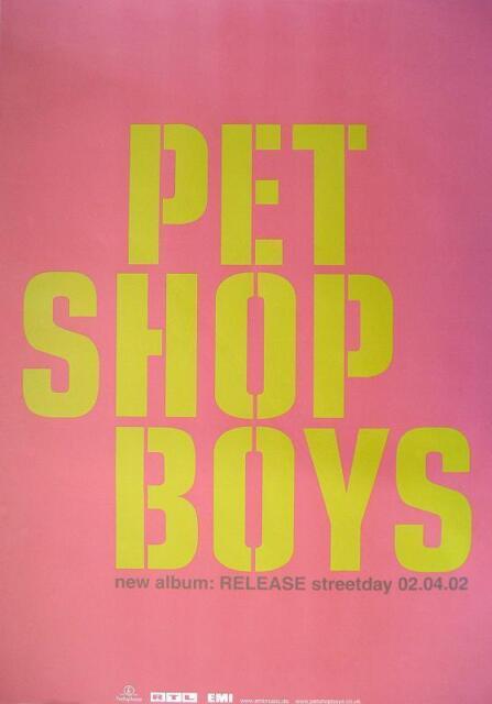 """PET SHOP BOYS POSTER """"RELEASE"""""""