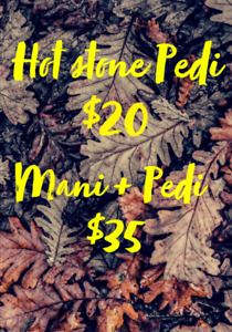 *** FALL SALON PROMOTIONS ! HAIR & NAILS ***