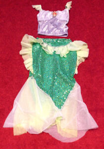 Walt Disney Resort: Little Mermaid Dress with Wig (Like New)
